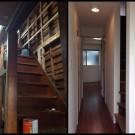 施工後、施工前段・廊下