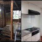 施工前、施工後・キッチン